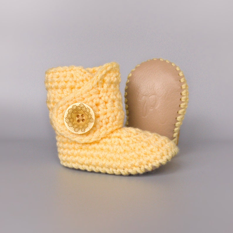 Spring Baby Shoes Yellow Baby Clothes Coming Home Outfit image 0