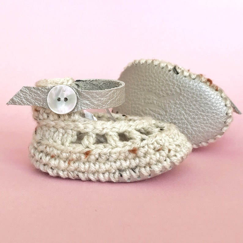 White Baby Girl Shoes Ivory Crib Shoes Spring Infant image 0
