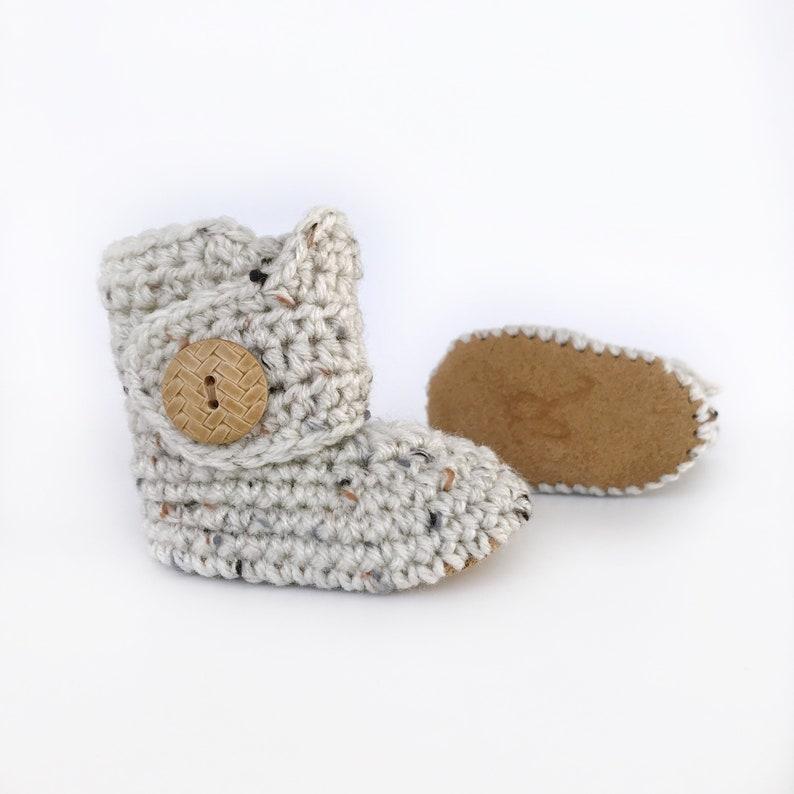 b3e057495 Infant Boy Boots Beige Newborn Shoes Unisex Baby Clothes | Etsy