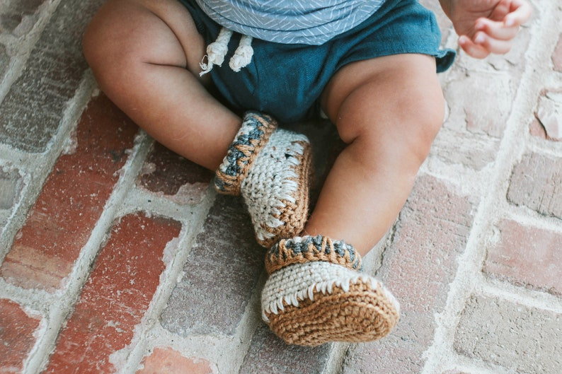Baby Booty White Baby Boy Clothes Crochet Baby Booties image 0