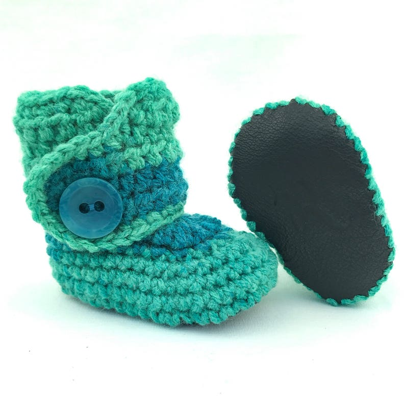 655dba328a967 Aqua Baby Shoes, Unique Infant Booties, Crochet Baby Booties, Blue Newborn  Boots, Colorful Baby Clothes, Baby Shoes for Boy, Baby Boy Gift