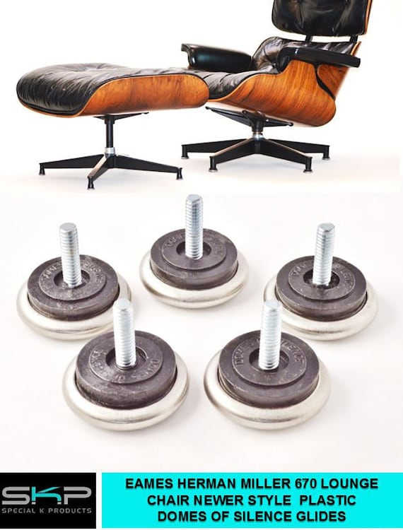 HERMAN MILLER DCM  LCM DOMES OF SILENCE FEET REPLACEMENT PART GLIDES FOR EAMES