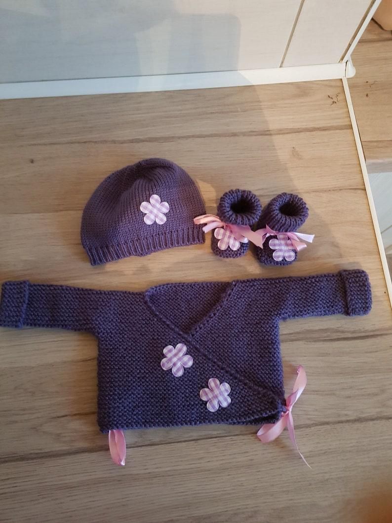 Bra set booties bonnet 0\u00e3 3 months Hat
