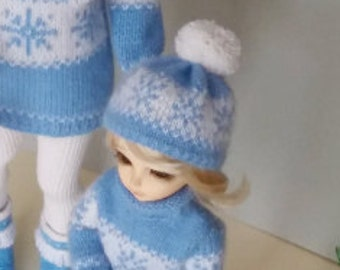 Handmade knitted hat cashmere for Littlefee, Yosd, 1/6 Bjd dolls.
