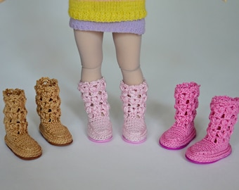 Knitted  boots for Littlefee, Yosd, 1/6 Bjd dolls.