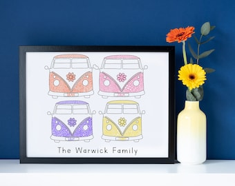 Camper Van Family Print
