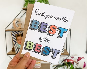 Dad You Are The Best Of The Best Father's Day Card