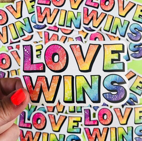 Love Wins sticker WATERPROOF and WEATHERPROOF