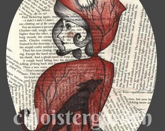 Little Red Riding Hood Art Print, 8X10