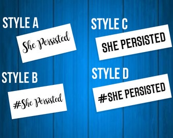 She Persisted Vinyl Decal - Let Liz Speak - Elizabeth Warren - Feminist Car Decal - Car Sticker - Laptop Decal - Laptop Sticker