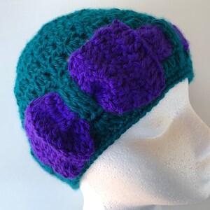 READY TO SHIP Motley purple Sidney messy bun hat