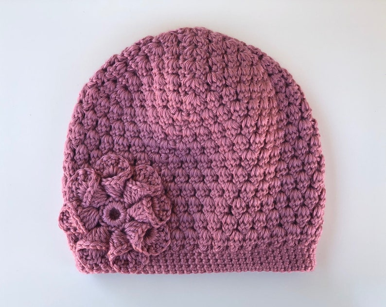 2ce50a0538a READY to SHIP Pink Mauve Crochet Knit Hat Beanie Warm Thick