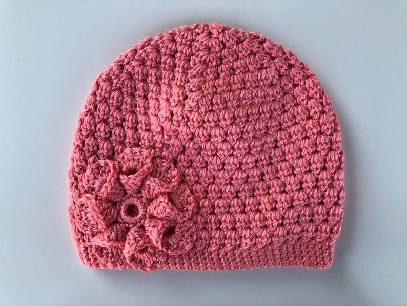 aeb6f2c1dd8 READY to SHIP Pink Coral Peach Crochet Knit