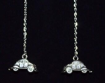 Earrings VW Beetle Dangle Chain Earrings