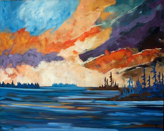 749 Art Artist Painting Landscape Canadian Canada Etsy