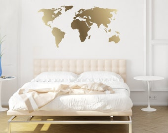 World map decal etsy more colors world map decal gumiabroncs Image collections