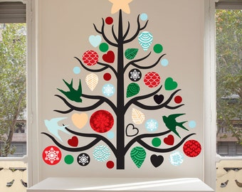 Christmas Tree Wall Decal Kit - Create your Own Xmas Tree Decor,  Christmas Wall Decal Kit by Chromantics