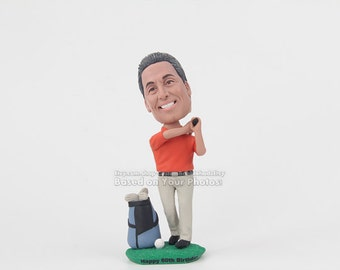 Personalized Golf Gifts Dad Gift Brother Bobblehead For Him Christmas Birthday Men Golfers