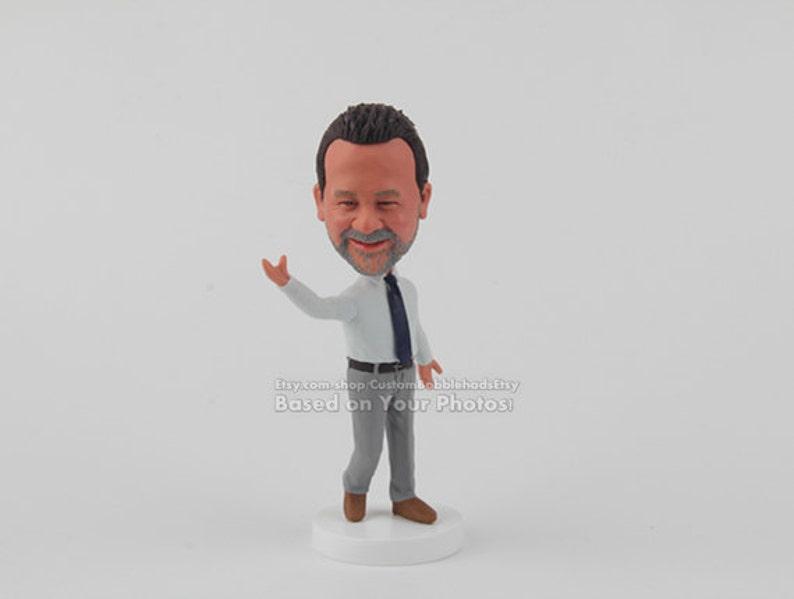 Custom Businessman Bobblehead Husband Gift For