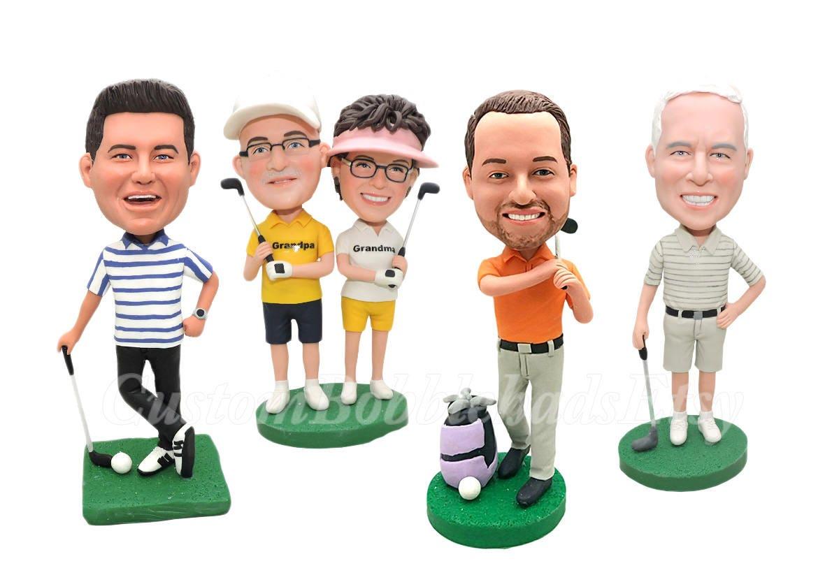 Benutzerdefinierte Golf Bobbleheads beste Freund Geschenk | Etsy