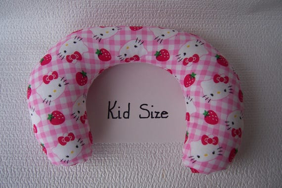 Kid Neck Roll Pillow In Pink Hellokitty Print Etsy