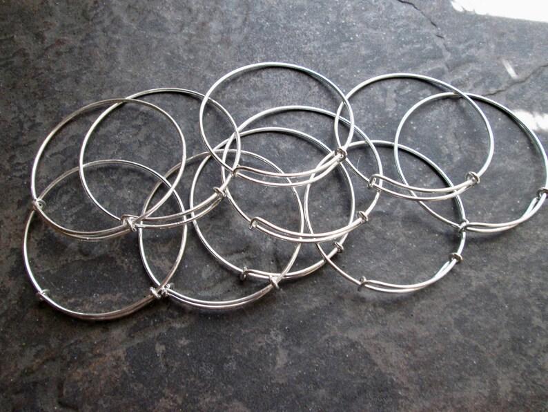 BULK BANGLE SALE Set of 15 Adjustable bangle bracelets in image 0