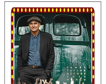 Music Collection Here James Taylor Signed Before This World 11x17 Inch Original Promo Poster