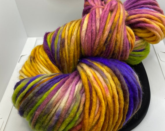 Yarn, Hand Dyed Super Chunky Yarn, Super Chunky weight yarn, small batch dyed, 100% SW Merino approx 200g/142yds