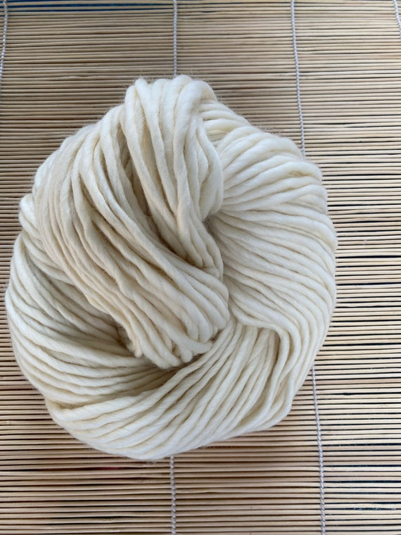 Yarn, Bare/Natural, Super Chunky weight, 200g NSW Merino Skeins, Similar to Rasta, 100% Non-SW Merino, 142 yds/200 gram skeins