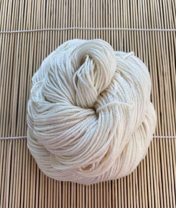 Yarn, Bare/Natural, DK weight, Diamond Extra 70/30, 4 ply, 70 SW Merino/ 30 Silk, 231 yds/100g