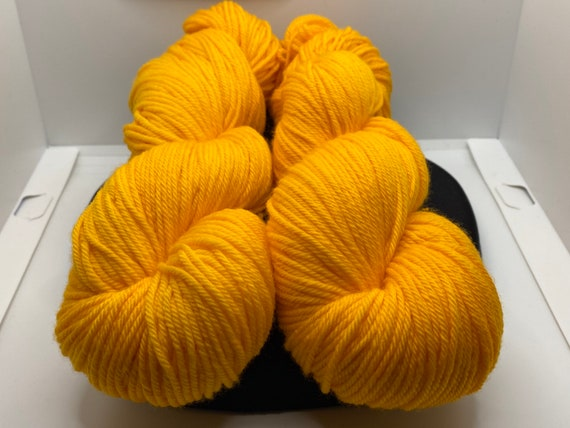 Hand Dyed Yarn, Pantone Inspired Formulary color: ZINNIA, Fingering/Sock weight, ready to ship, can be dyed to order on other bases.