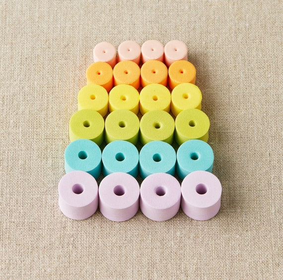 Cocoknits, Cocoknits Stitch Stoppers, Colorful Stitch Stoppers, Cocoknits EVA Foam Stoppers,