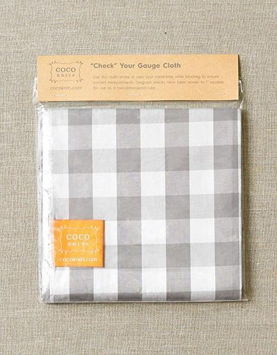 Cocoknits Tools, Cocoknits Accessories, Cocoknits Check Your Gauge Cloth, Blocking Cloth, Cocoknits Blocking Cloth