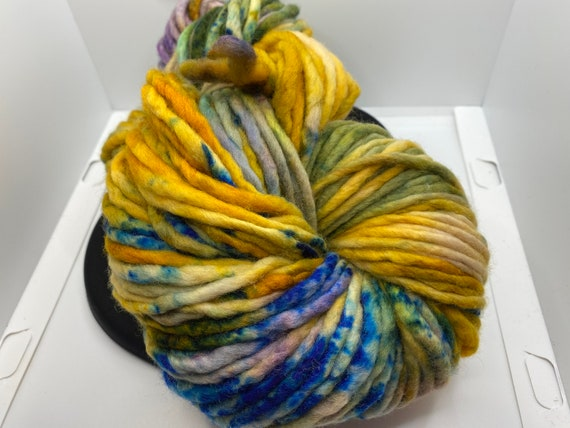 "Yarn, Hand Dyed ""Klimt"" Super Chunky Yarn, Super Chunky weight yarn, small batch dyed, 100% SW Merino approx 200g/142yds"