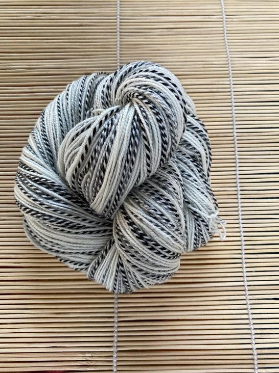 Yarn, Bare/Natural Yarn, Fingering/Sock Weight, Luxury 80/20 Zebra Gold Yarn, 80 SW Merino/20 Nylon, 400 yds/100 g.