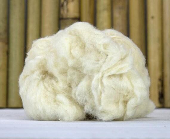 Specialty Fibers, Grade A Mulberry Silk Noil, Silk Noil Fibers, Papermaking, Fiber Art Materials, Felting Materials,