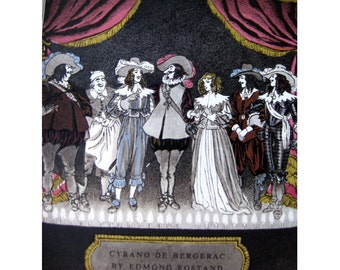 Cyrano De Bergerac A Heroci Comedy in 5 Acts by Heritage Press Limited Edition Illustrated by Pierre Brissaud