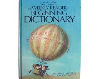 The Weekly Reader Beginning Dictionary, William Morris, Beginner Reader, Children's Early Reader Book, Young Reader, Vintage Kids Books