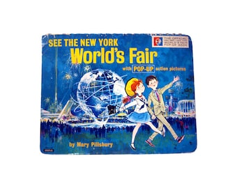 See The New York Worlds Fair Pop Up Book by Mary Pillsbury - Childrens Book - Vintage Pop Up Childrens Book