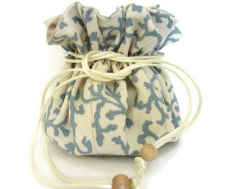 Bridal Gifts, Bridesmaid Gift, Travel Jewelry Pouch, Drawstring Jewelry Bag, Gift Bag, 8 Pockets Inside, Medications Bag, Ready to Ship