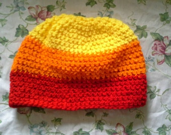 Candy Corn Crochet Beanie