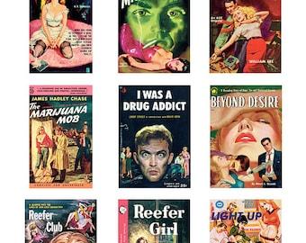 Pulp Art Stickers Theme 'Best of 9' Set - BAD HABITS