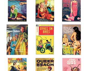 Pulp Art Stickers Theme 'Best of 9' Set - LESBIAN