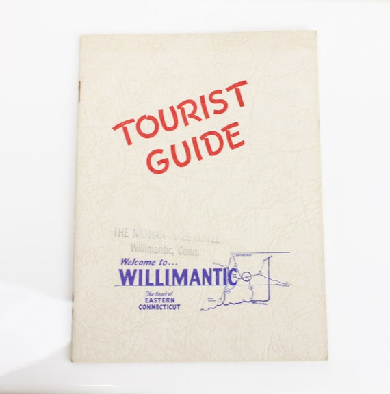 Tourist Guide - Welcome to Willimantic - The Nathan Hale Hotel - 1953 - Ephemera - Book - Pamphlet - Mid Century - 1950's