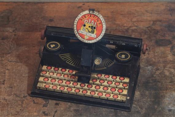 Vintage Marx Deluxe Dial Typewriter