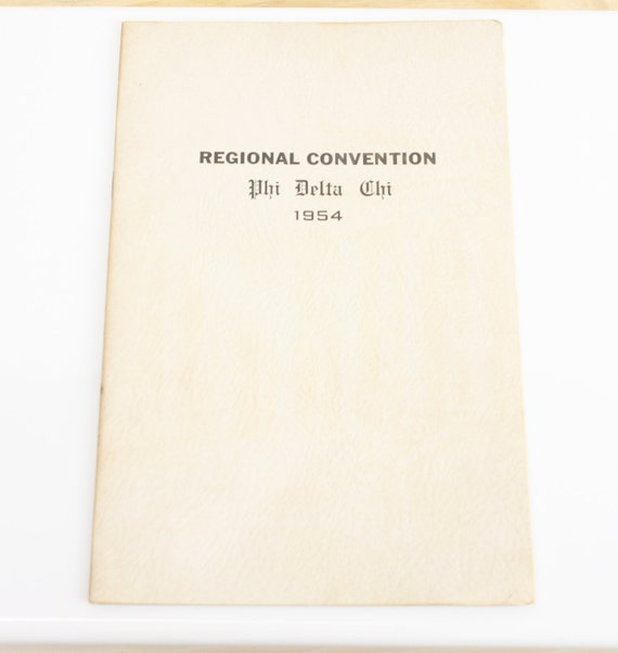 Regional Convention Phi Delta Chi 1954 - Program - Ephemera - Book - Pamphlet - Mid Century - 1950's