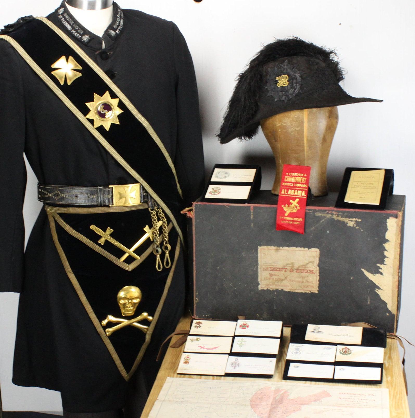 Antique - Masonic - Knights Templar - 19th Century