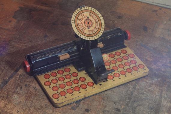 Vintage Marx Dial Typewriter