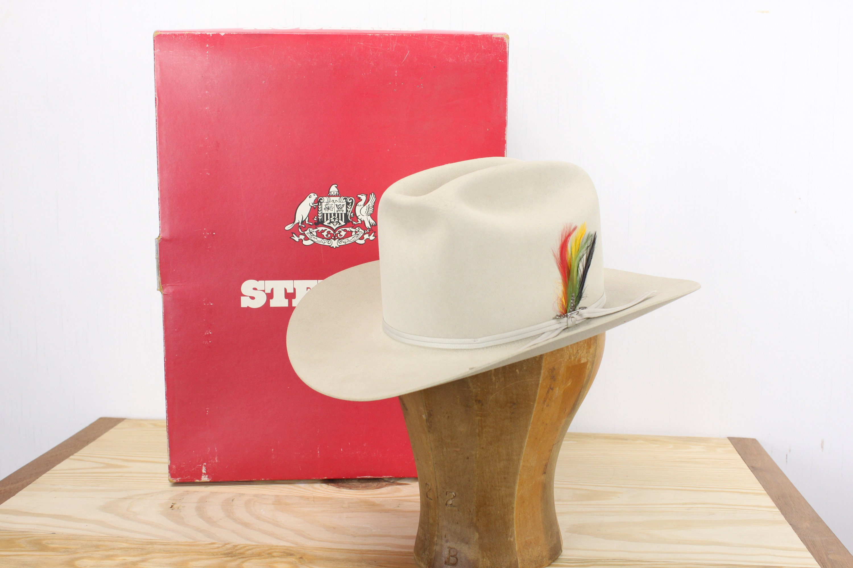 ebf3104e5a33b Vintage - Stetson - Rancher - 4 X Beaver Felt - WISP - Silver Belly ...