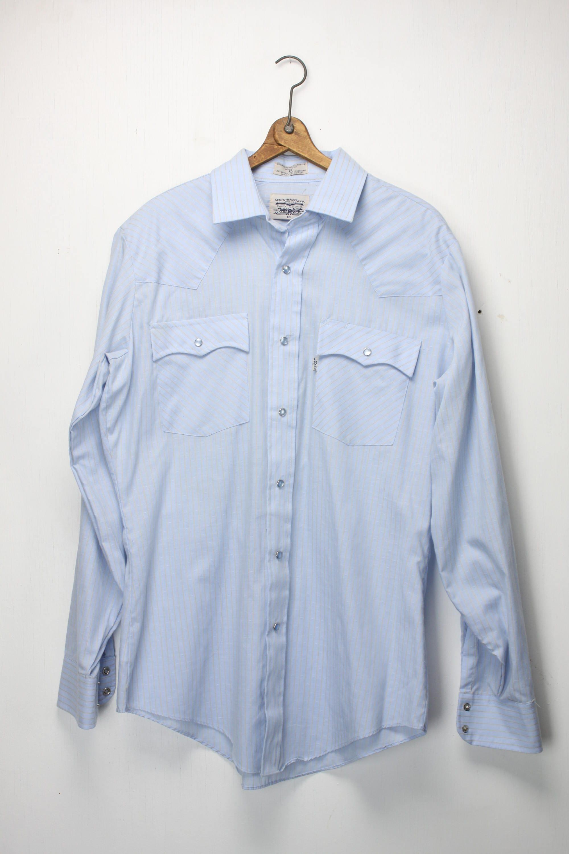 Vintage Men S Western Wear Shirt Levi Strauss Co L 16 5 1960 S